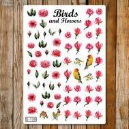Birds and Flowers (S-139), фото 1