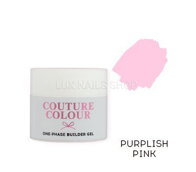 Однофазный гель COUTURE Colour 1-phase Builder Gel 50ml #Purplish pink, фото 1