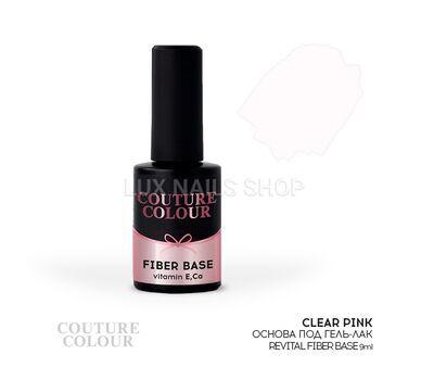 Основа под гель-лак COUTURE Colour Revital Fiber Base #Clear Pink 9ml, фото 1