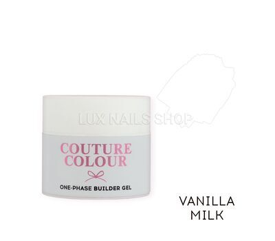 Однофазный гель COUTURE Colour 1-phase Builder Gel 15ml #Vanilla milk, фото 1