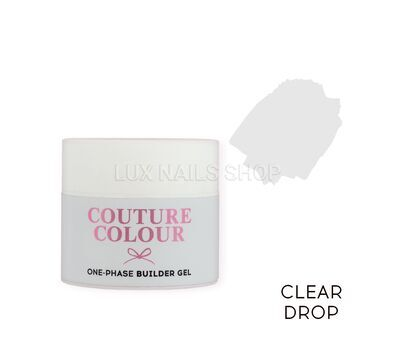Однофазный гель COUTURE Colour 1-phase Builder Gel 15ml #Clear drop, фото 1
