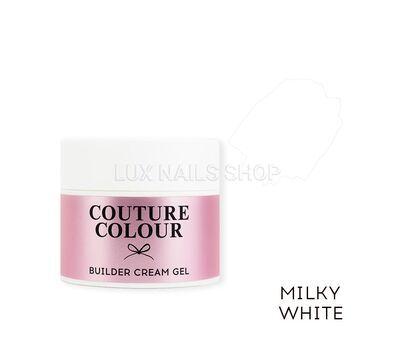 Строительный крем-гель COUTURE Colour Builder Cream Gel 15ml #Milky white, фото 1