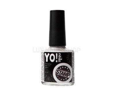 Лак для стемпінгу YO!nails білий 8мл, фото 1